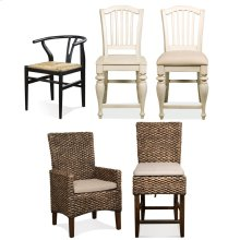 Mix-n-match Chairs - Woven Counter Stool - Hazelnut Finish
