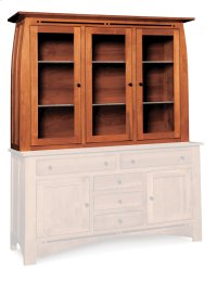 """Aspen Closed Hutch Top, 64 1/2"""", Antique Glass Product Image"""