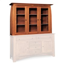 "Aspen Closed Hutch Top, 64 1/2"", Antique Glass"
