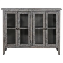 Pembroke Plantation Recycled Pine Washed Grey 4 Door Tall Sideboard