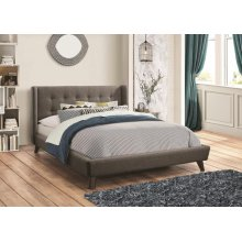 Carrington Grey Upholstered Queen Bed