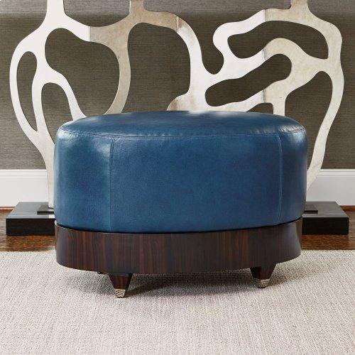 Oval Ottoman - Walnut