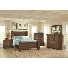 Sutter Creek Rustic Vintage Bourbon Eastern King Bed
