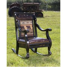 Black Bear Rocking Chair