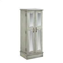 Ellis Mirrored Jewelry Armoire In Slate Grey