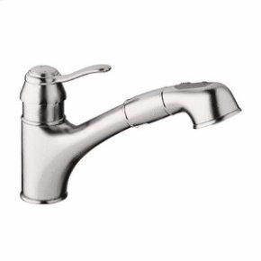 "Brushed Nickel Single-lever sink mixer 1/2"""