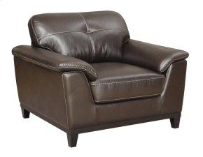 Chair Walnut Brown Pu