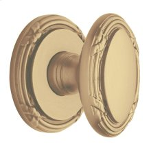 Satin Brass and Brown 5031 Estate Knob