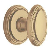 Satin Brass and Brown 5031 Estate Knob