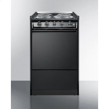 Slide-in Electric Range In Slim 20 Inch Width With Black Porcelain Construction