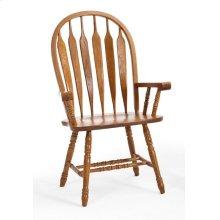 Dining - Classic Oak Detailed Arrow Arm Chair