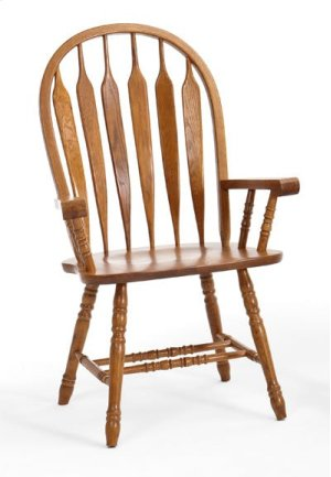 Dining - Classic Oak Detailed Arrow Arm Chair