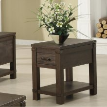 Promenade - Chairside Table - Warm Cocoa Finish