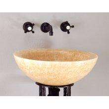 Polished Beveled Rim Sink Honey Onyx