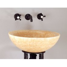 Polished Beveled Rim Sink Honey Onyx