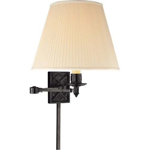 Visual Comfort AH2012GM-S Alexa Hampton Gene 20 inch 100 watt Gun Metal Swing-Arm Wall Light