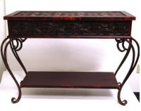 Pattern Metal Rectangle Table 40.2x15.8x30.1 Product Image