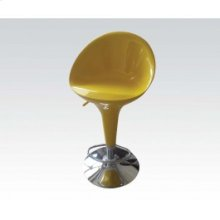 Yellow/chr Swiv. Adj. Stool @n