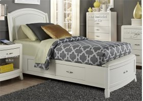 Full One Sided Storage Bed