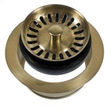 Complete Stopper & Strainer Unit Waste Disposer Trim - Antique Brass