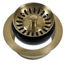 Complete Stopper & Strainer Unit Waste Disposer Trim - Antique Brass
