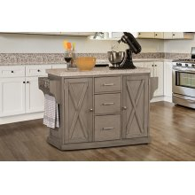 Brigham Kitchen Island In Gray - Granite