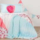 Watermelons and Dots Comforter and Pillowcase - Pink and Turquoise Product Image