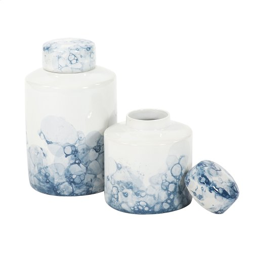 Blue and White Porcelain Tea Jar, Small