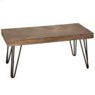 Coffee Table with Woven Pattern Top. Product Image