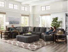 Jackson Furniture Mammoth Cuddler Sectional - Fabric:  1806-58 Smoke