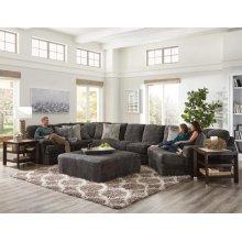 Jackson Furniture Mammoth Cuddler Sectional - Fabric:  1806-58 Smoke
