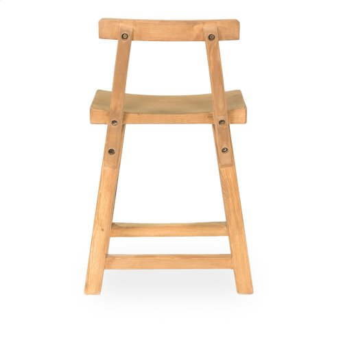 Farmers Stool W/Back, Natural
