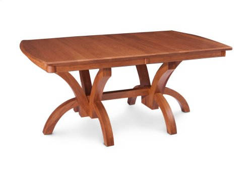 Adeline Double Pedestal Table, Solid Top
