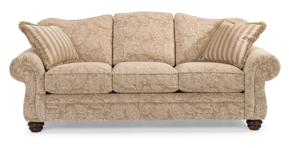 Bexley One Tone Fabric Sofa Without Nailhead Trim