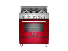 30 4-Burner, Gas Oven Red