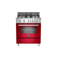 30 4-Burner, Gas Oven Red