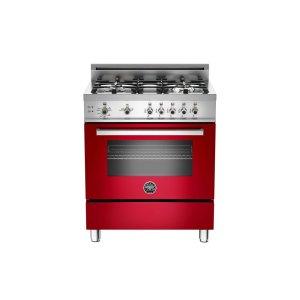 30 4-Burner, Gas Oven Red -