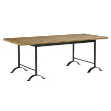 Salvage Camber Metal Dining Table