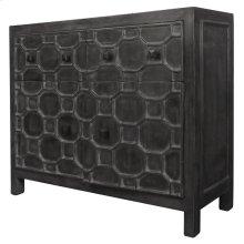 Silvestro Distressed Sideboard 2 Drawers + 2 Doors, Antique Black