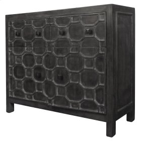 Silvestro Distressed Sideboard 2 Drawers + 2 Doors, Antique Black