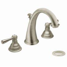 Kingsley brushed nickel two-handle bathroom faucet