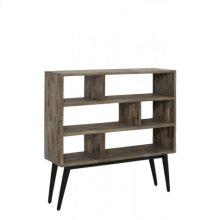 Cabinet open 100x30x100 cm TABURICO mix wood-matt black