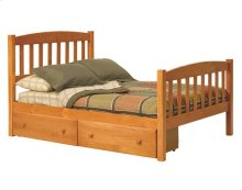 Pine Ridge Mission Bed with options: Full