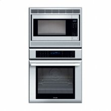 "27"" MASTERPIECE SERIES STAINLESS STEEL COMBINATION OVEN WITH A MICROWAVE AND TRUE CONVECTION OVEN"