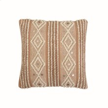 18X18 Hand Woven Raine Pillow Taupe
