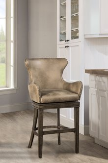 "Caydena 30"" Upholstered Swivel Bar Stool"