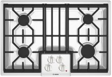 """30"""" Gas Cooktop 500 Series White"""
