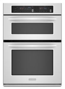 """GOOD STOCK- OPEN BOX - CLOSE OUT SPECIAL White Combination Oven 27"""" Width 1.4 cu. ft. Microwave Capacity 3.8 cu. ft. Oven Capacity Microwave Convection Cooking Even-Heat™ True Convection System"""