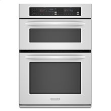 "GOOD STOCK- OPEN BOX - CLOSE OUT SPECIAL White Combination Oven 27"" Width 1.4 cu. ft. Microwave Capacity 3.8 cu. ft. Oven Capacity Microwave Convection Cooking Even-Heat™ True Convection System"