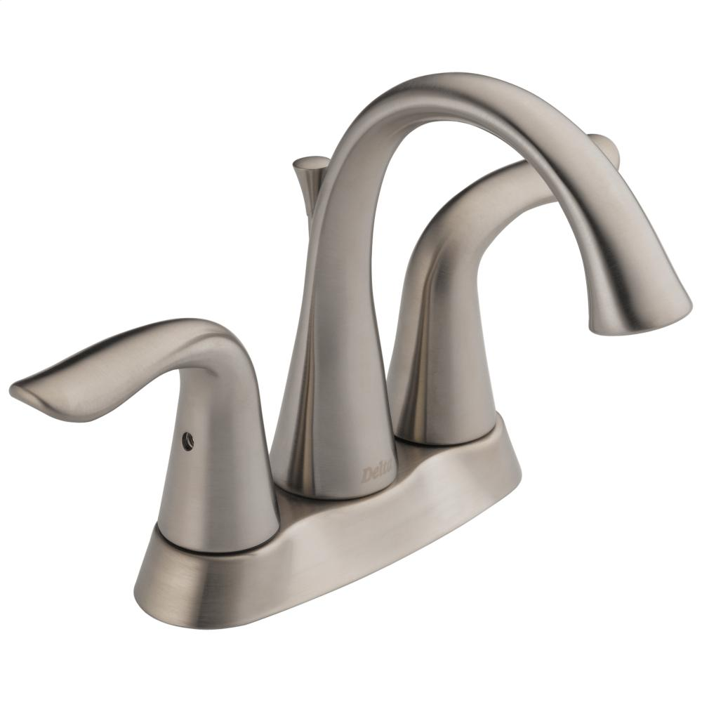 Stainless Two Handle Tract-Pack Centerset Lavatory Faucet